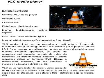 VLC media player. tec informacion