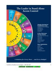 The Leader in Stand-Alone Access Control - Southern Lock ...