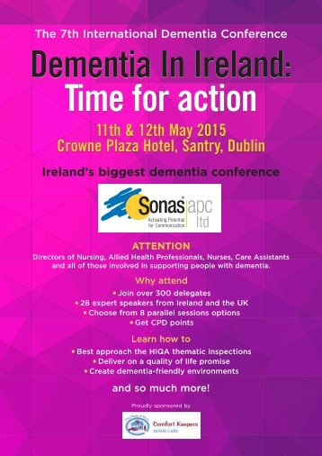 Dementia Conference 2015 Programme