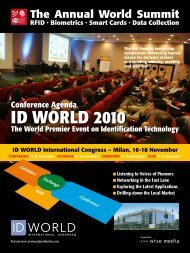 Conference Agenda - ID WORLD International Congress