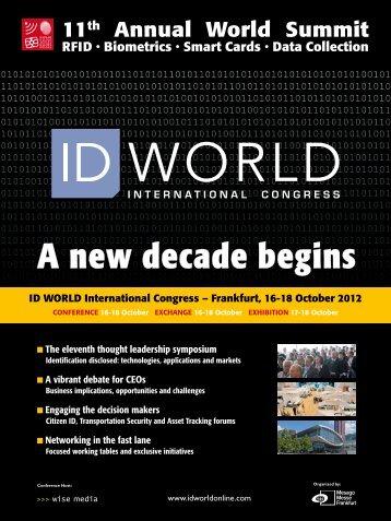 download the Fact Sheet PDF - ID WORLD International Congress