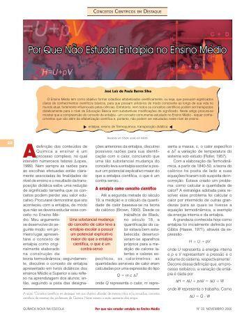 Adefinição - QNEsc - Sociedade Brasileira de Química