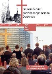 Konfirmation 2010 - Gemeinde Owschlag