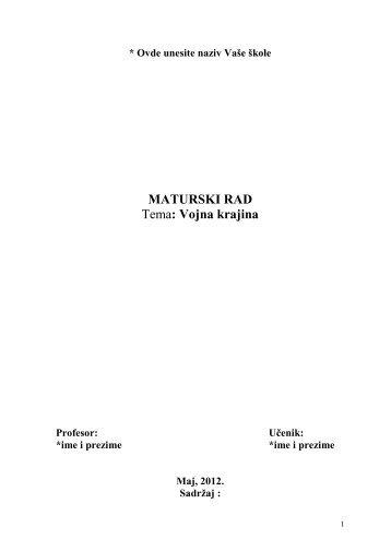 Pregled - Seminarski Maturski Diplomski Radovi