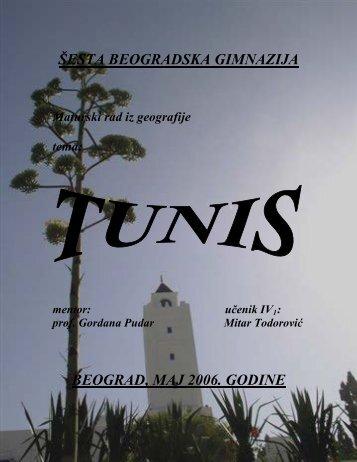 Geografski prikaz tunisa - Seminarski Maturski Diplomski Radovi