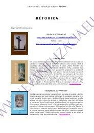 Materiály pre študentov z predmetu RÉTORIKA - Evanjelizacia