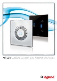 ARTEOR™ Wiring Devices/Home Automation Systems - legrand