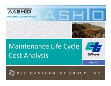 Caltrans-Life Cycle Cost Analysis
