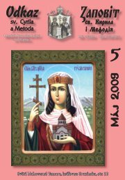 Máj - Mesačník Odkaz sv. Cyrila a Metoda