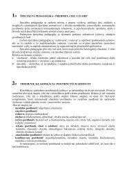 ŠPECIÁLNA PEDAGOGIKA - PREDMET, CIEĽ A ... - teologia.iskra.sk