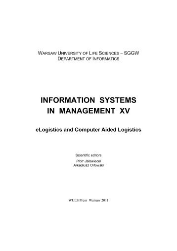 Downloading - Information Systems In Management - SGGW