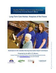 Long-Term Care Homes: Hospices of the Future - Quality Palliative ...