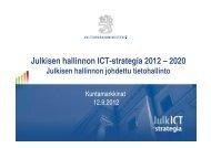 Julkisen hallinnon johdettu tietohallinto - Kuntamarkkinat
