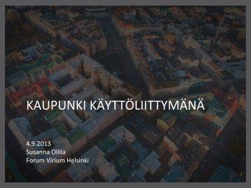 Susanna Ollilla - Forum Virium Helsinki