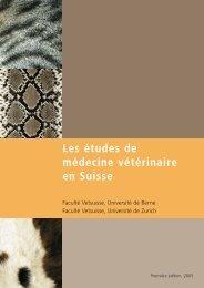 Les études de médecine vétérinaire en Suisse - Vetsuisse