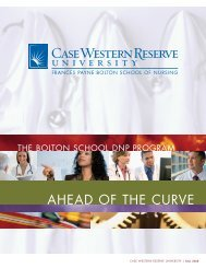 ahead of the curve - Frances Payne Bolton School of Nursing - Case ...