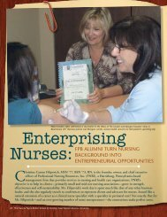 Enterprising Nurses: FPB ALumni Turn nurSinG - Frances Payne ...