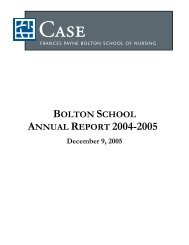 annual report 2004-2005 - Frances Payne Bolton School of Nursing