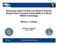 Assessing Alpha Particle and Neutron Induced Single Event ...