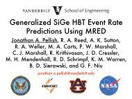 Generalized SiGe HBT Event Rate Predictions Using MRED