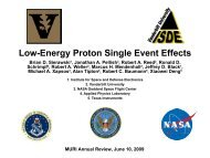 Low-Energy Proton Single Event Effects - Institute for Space and ...