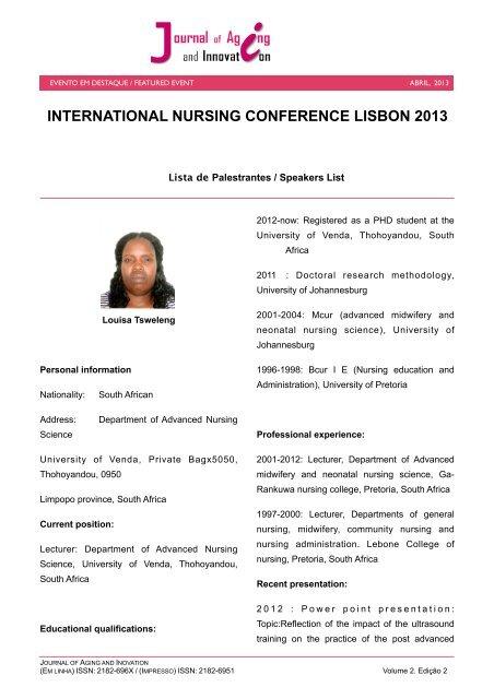 Suplemento International Nursing Conference 2013 - AAGI-ID ...