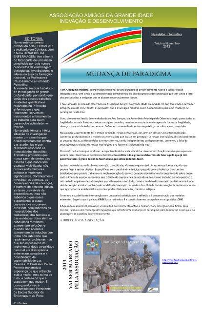 Outubro/Novembro 2012 - AAGI-ID Associação Amigos da Grande ...