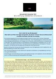 Jahresbulletin November 2011 - Die Stiftung Sokrates
