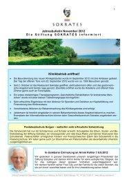 Jahresbulletin November 2012 - Die Stiftung Sokrates