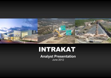 Construction & Infrastructure Projects - Intrakat