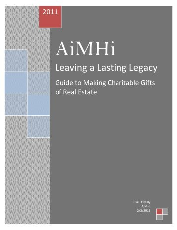 Leaving a Lasting Legacy - AiMHi