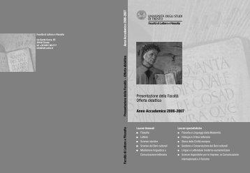 Parte generale (4554KB) - Lettere e Filosofia - Università degli Studi ...