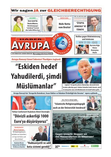 EUROPA JOURNAL - HABER AVRUPA MAI 2015