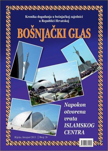 Bošnjački glas 26 - Bošnjačka nacionalna zajednica za Grad Zagreb ...