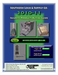 How to Use this Catalog - Southern Lock & Supply Co.