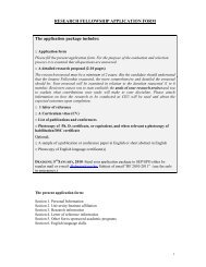 clinical/research fellowship application form - University
