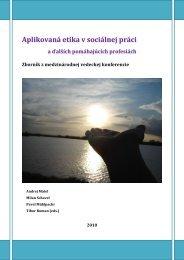 Aplikovaná etika v sociálnej práci - Prohuman