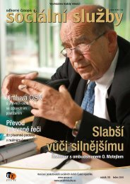 Číslo 1 - 2010 - Asociace poskytovatelů sociálních služeb České ...