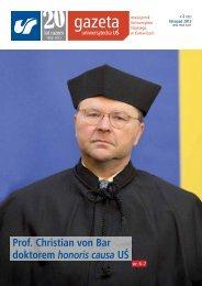 Prof. Christian von Bar doktorem honoris causa UŚ - Uniwersytet ...