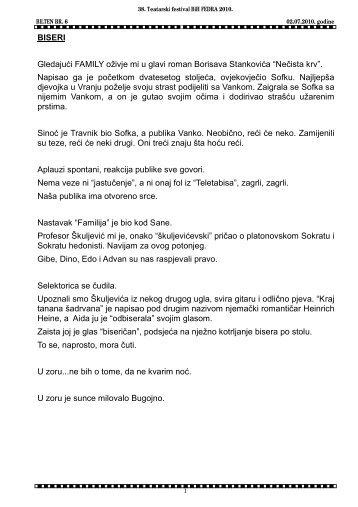 Bilten br.6 u pdf formatu. - KSC Bugojno