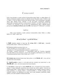 Dražební vyhláška - Obec Březník