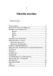 ROZDZIAŁ III: Filozofia moralna - katedra.uksw.edu.pl