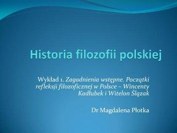Periodyzacja filozofii polskiej. Refleksja przeduniwersytecka ...