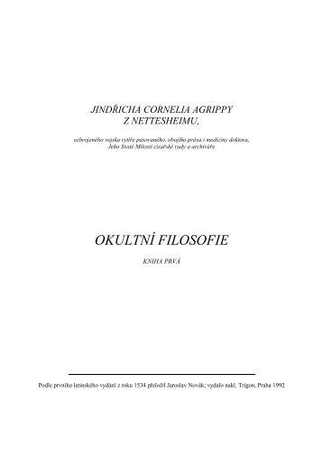 H.C. Agrippa von Nettesheim: Okultní filosofie I. - Blender 3D