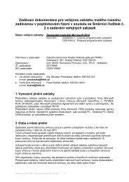Zadávací dokumentace pro veřejnou zakázku malého rozsahu ...