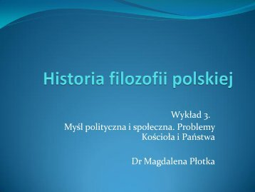 Polska myśl polityczna i filozoficzna na Soborze w Konstancji. Paweł ...