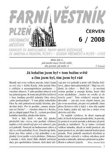 ČERVEN - Římskokatolická farnost u katedrály Plzeň