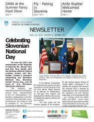 NEWSLETTER Celebrating Slovenian National Day - Dana