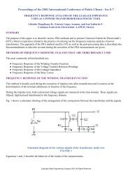 frequency response analysis of the leakage impedance used as