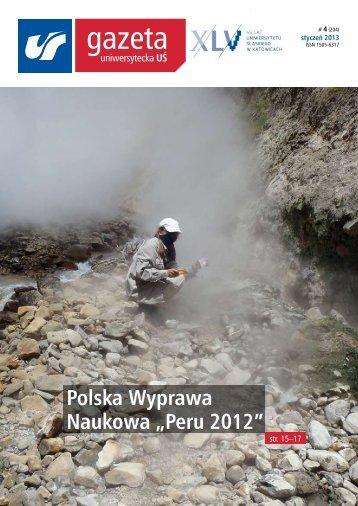 """Polska Wyprawa Naukowa """"Peru 2012"""" - Gazeta Uniwersytecka"""